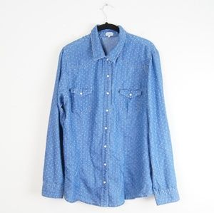 Charming Charlie | Denim Button Down Top